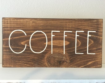 Wood Signs, Wooden Signs, Custom Wooden Signs, Wooden Sign for Kitchen - Coffee
