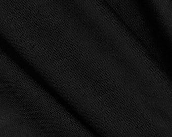 100% Tencel black jersey knit by the yard eco-friendly