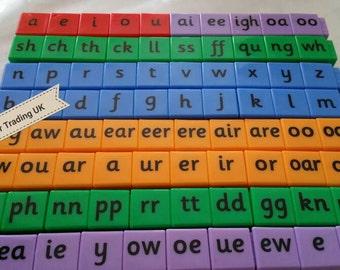 English Alphabet Letters Spelling Cubes Blocks Educational, CVC, Phonics, Spelling, Reading, Preschool, Kindergarten, Resource