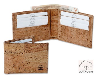 Natural Cork wallet with credit card