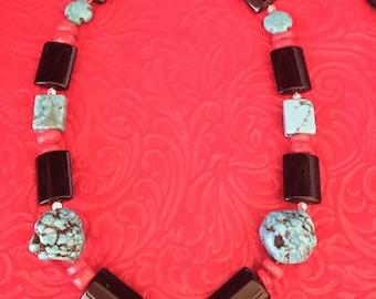 Rock bead fashion necklace
