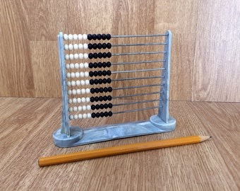 Vintage abacus Small abacus Plastic abacus Primitive calculator Old calculator Primitive math Counting device Children abacus