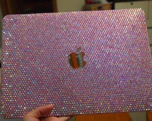 Macbook case handmade Pink AB series laptop case glitter shell covers Rhinestones Crystals strass Laptop cover