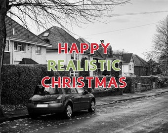 Alternative Christmas Card - Realistic Xmas Dull Street CL1513