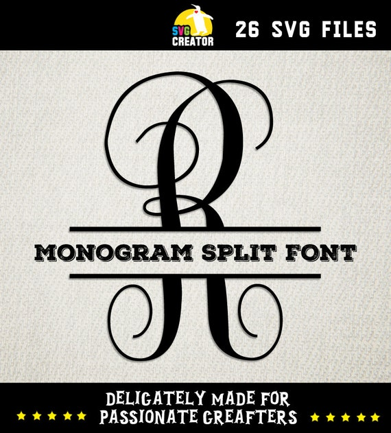Monogram kk split fonts svg font by