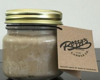 8 oz El Cubano Vegan Candle with wood or cotton wick Mason Jar