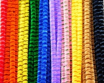 Pipe Cleaners  Striped   50 pieces 30cm x 6mm Assorted Colours