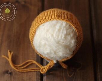 Marigold Newborn Bonnet, Photography Prop