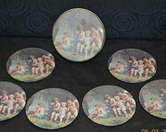 Vintage Cherub Coasters