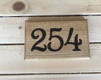 House number plate plaque