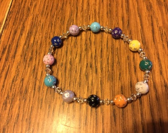 Cancer awareness stretch bracelet