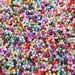 Pack of Glass and Porcelain Beads Seeds Pastel Rainbow and Clear Colours Mix 3mm  25g Bag