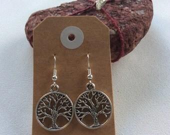 Tree of Life Buddhism drop earrings hippy boho handmade jewellery