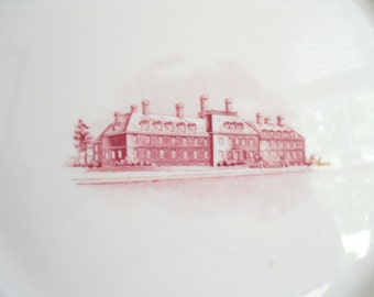 Vintage Shenango China, Commemorative Wall Plate, Home Beneficial Life Insurance, Richmond, 1950's Industrial Design, Old Restaurant Ware