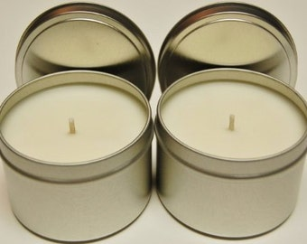 Homemade highly scented soy candle 8 oz tin