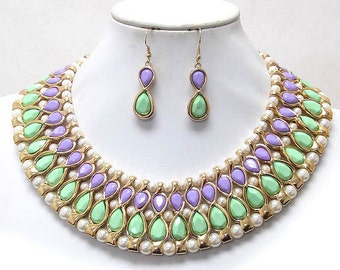 Teardrop 2 Piece Necklace Set