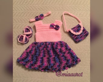 American Girl Doll Crocheted clothing Lot-outfit