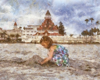 Digital Painting from photo, Custom painting, Beach painting, Impressionists style, Free Shipping!