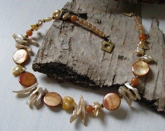 Necklace - shell necklace - natural pure in 48 cm