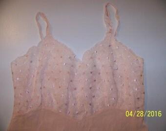 Vintage pink embroidered slip size 36
