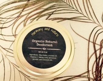 Natural Deodorant Cream