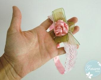 Pink Peony headband / Peony pink headband / Pivoine bandeau rose