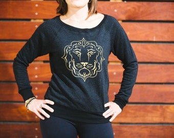 Lion Boatneck Triblend Sweatshirt
