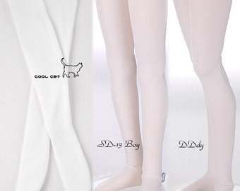 SD/DD Over Thigh-High Doll Stockings # White/Black
