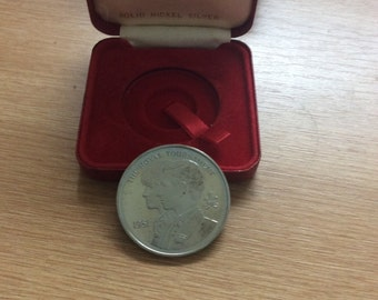 The Royal Tournament 1981 Medal, featuring Prince Charles and Lady Diana Nickel Silver