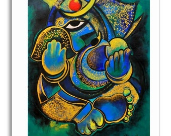 Art Greeting Cards 'Ganeshas'