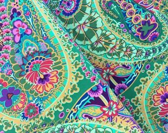 Paisley Jungle in Green by Kaffe Fassett - Kaffe Fassett Collective, Jungle Paisley