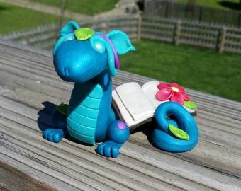 Polymer Clay Book Dragon Figure