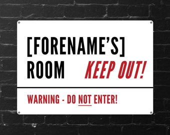 Personalised Keep Out Street Sign (Regular + Large)