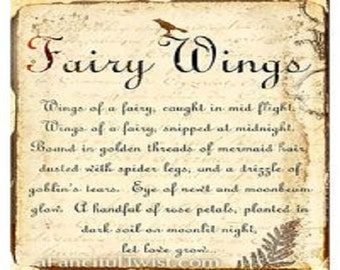 My personalized handwritten Fairy Magick Spell