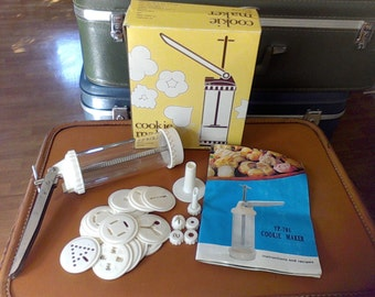 Cookie maker , decoration press, Instructions and recipes,,Injection nozzle cake decorating