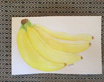 Banana watercolor