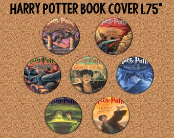 "Harry Potter Book Cover - 1 3/4"" Pinback Buttons"