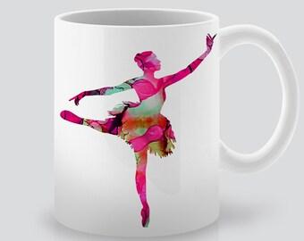 Beautiful Ballerina Mug -  Coffee Cup - Tea Mug - Ceramic Mug - Colorful Art Mug - Perfect Gift