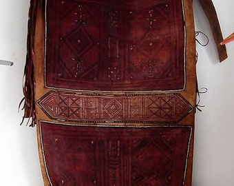 Tassoufra, (military-camel rider)Meharist's saddle bag/sack for camels in Mauritania, Sahara, african desert, traditionnal north african art