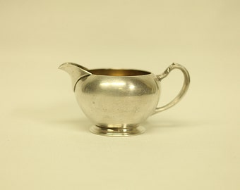 Vintage Brass Nickel Plated Creamer