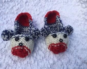 Bear Slippers, Knitted Slippers, Animal Slippers
