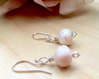 Bridal Earrings, Bridesmaids Earrings, Pearls and Sterling Silver