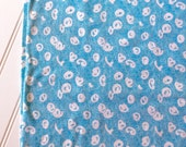 Interlock-Knit-Cotton-Blue-Aqua-White-Dot-Fabric-By-The-Yard-Kaufman-Fashion-Apparel -Sewing-DIY-Crafts-Supplies