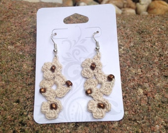 Flower Crochet Dangle Earrings