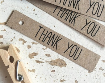Rustic 'Thank You' Tags Pk20