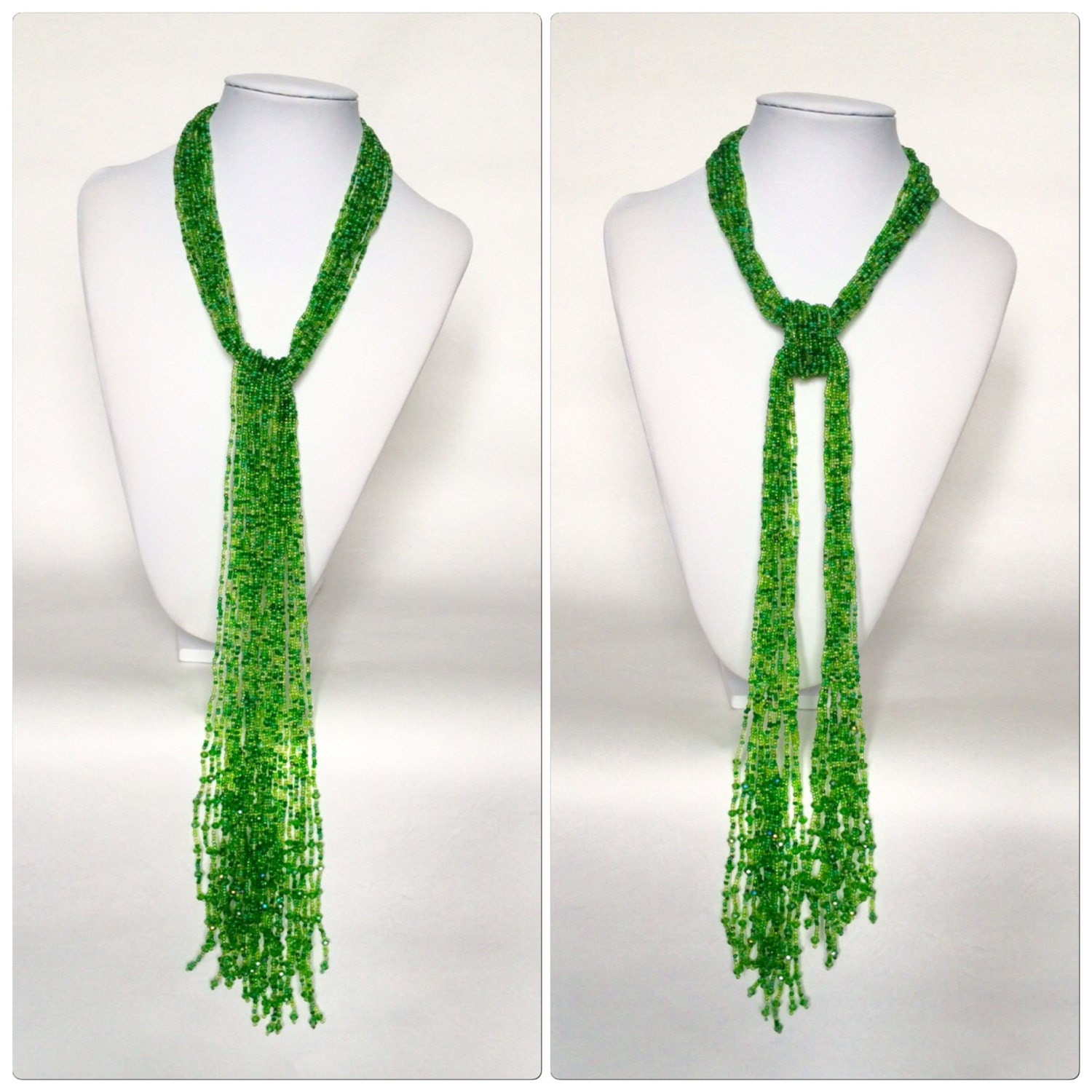 multi strand beaded scarf necklace made to order
