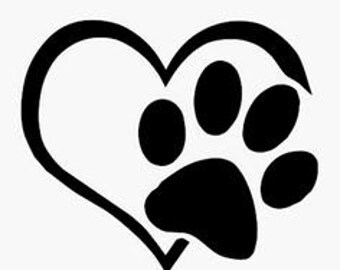 Dog Lovers Decal for Car Window, Water Bottles, Laptops, etc. CUSTOM SIZE & COLORS!