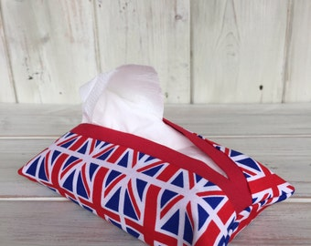Fabric Tissue Holder, Pocket Tissue Holder, Handbag Tissue Holder, Wedding Favour, Travel Tissue Holder