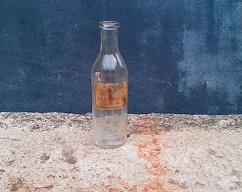 Little glass pharmacy bottle