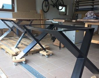 Table steel frame X